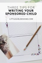 Three Tips for Writing Your Sponsored Child
