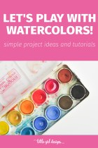 Oooh! I love watercolors and this post has a TON of creative ideas to try—from bookmarks to barrettes to decorating little girl's clothes . . . LOVE these!