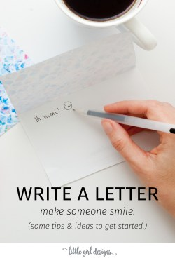 I need to write more letters because it always makes me feel so good when I send off a note in the mail. That, and let's be honest, getting real mail is awesome! :) Love these tips and ideas.