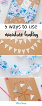 It's miniature bunting time! I love these ideas on how to use bunting—I'm definitely going to try these this year. :)