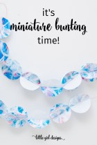 I love these miniature bunting ideas. Great for gifts, parties, and all kinds of little celebrations. :)