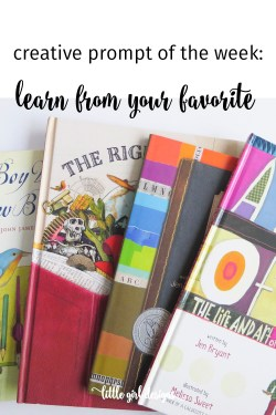Melissa Sweet is one of my favorite artists, and I've learned so much from looking through her work. What could you learn from studying your favorite artist(s)? This is a fun activity that can really help you creatively.