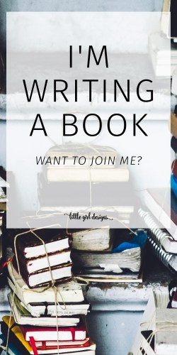 Well, I'm writing a book. Would you like to join me? I've been working on a new book for most of the year, but went about it the WRONG way. Here's what I'm doing differently.