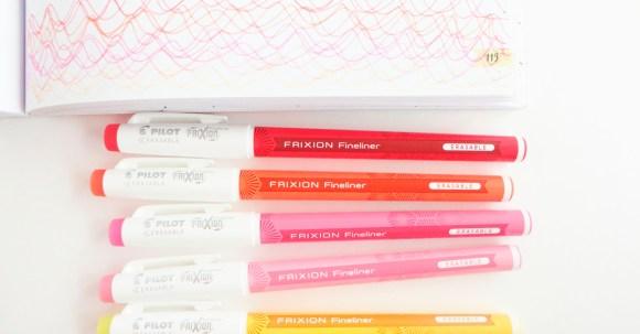 This is such a fun way to swatch out a set of Frixion Fineliner pens! Waves away! #ad @Target @pilotpenUSA #PilotPenBackToSchool #PowerToThePen #CollectiveBias @Target @pilotpenUSA