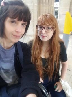 Mélanie venue à me rescousse à la gare!