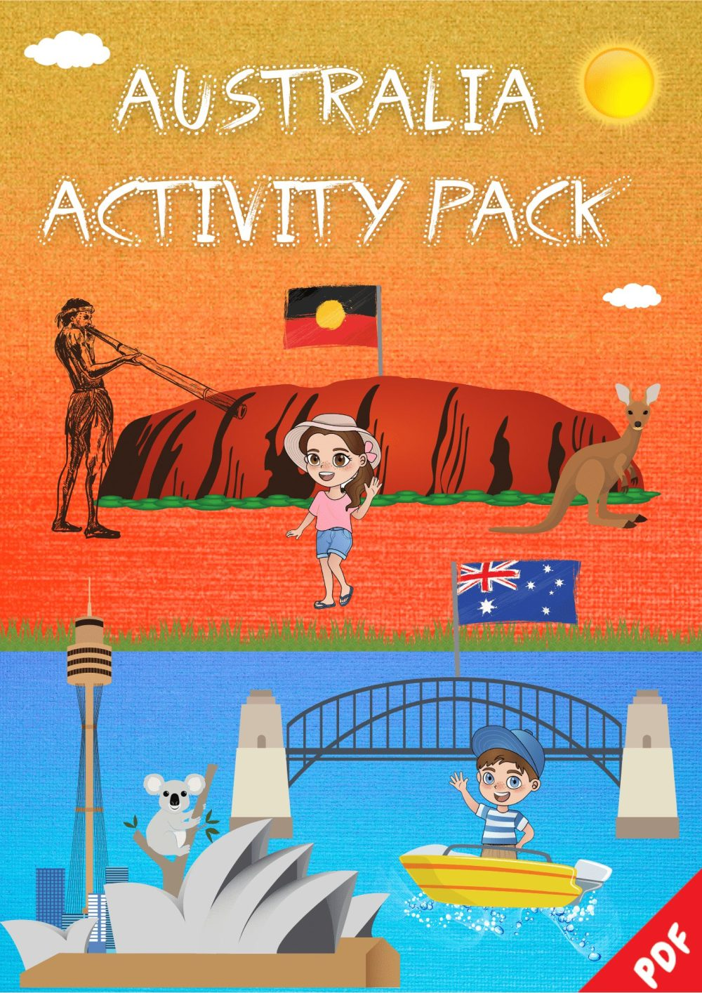 Australia Activity Pack Cover Page-Little Global Explorers