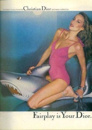 jerry hall for dior