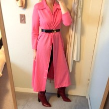 vintage coat dress, vintage gucci belt, zara boots.