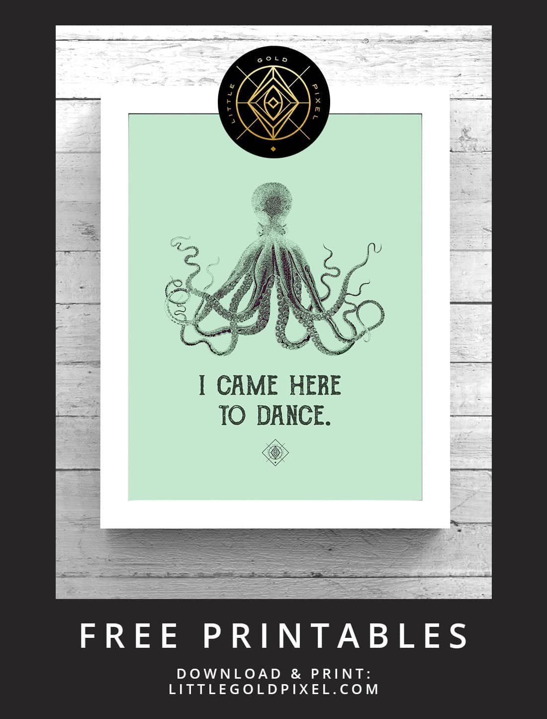 Octopus Free Printable Freebie Fridays Little Gold Pixel