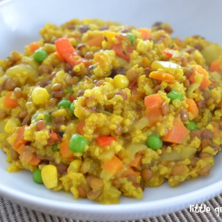Millet and Brown Lentil Pilaf