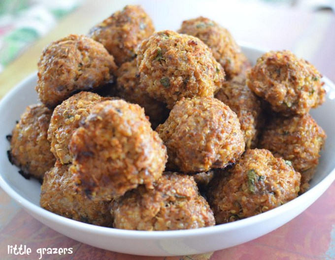 Little Grazers Beef, Apple and Quinoa Balls - baby led weaning, fussy eaters, finger foods, kids meals, family meals, gluten free, dairy free, nut free