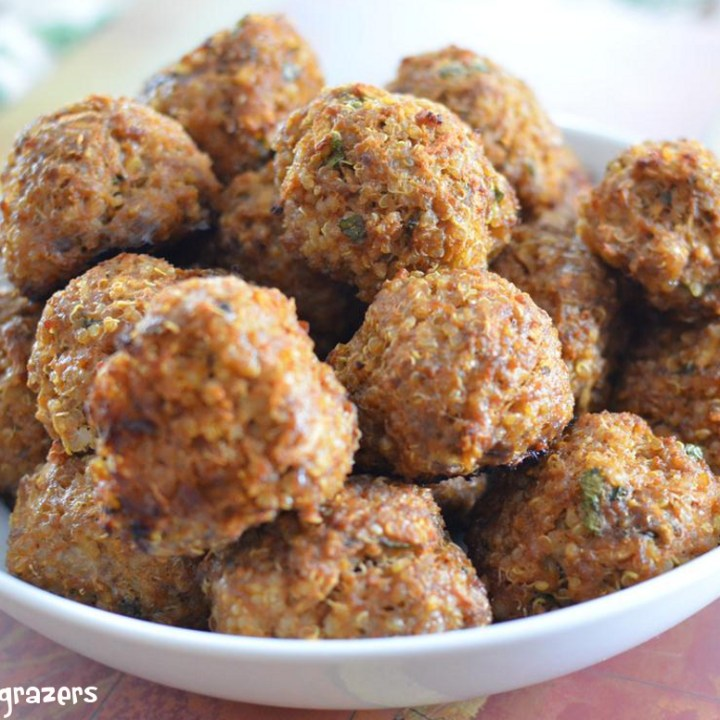 Beef, Apple and Quinoa balls