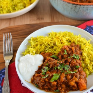 Roasted Butternut Squash and Lentil Curry