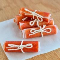 Homemade Papaya Fruit Roll Ups