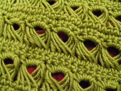 Week 6 Broomstick Lace And Shell Stitch Knotting Noodles