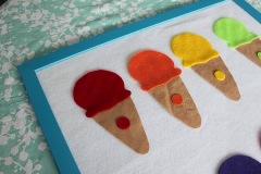 felt ice cream colour matching