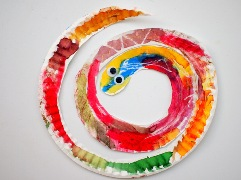 paper plate snakes