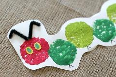 sponge printed caterpillar