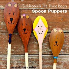 story spoons goldilocks and the three bears