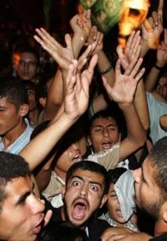 palestinesi supporter di Hamas