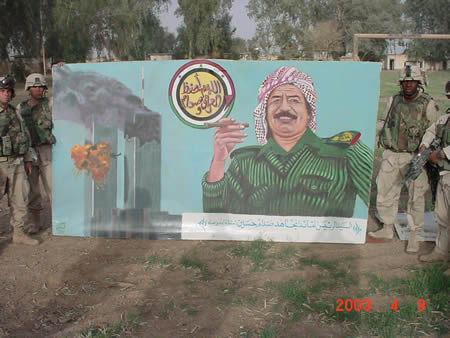 9/11 Saddam poster (iraq)