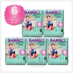 Bambo Nature - Size 6+ - Eco Disposable Training Pants XL 18+kgs - Bulk Buy (90pants)