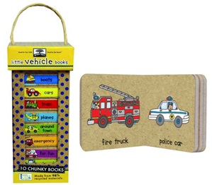 GREEN START BOOK TOWER - LITTLE VEHICLE ( BOARD )