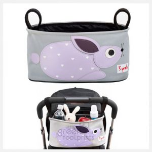 3 Sprouts - Pram Organiser - Purple Rabbit