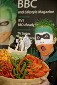 Chilli Rich The Little Green Men Chilliman with his products aka RK Alker Author