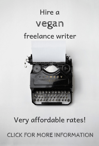 hire a vegan writer
