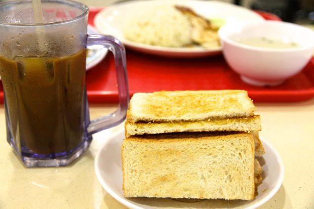 Kaya Toast and coffee