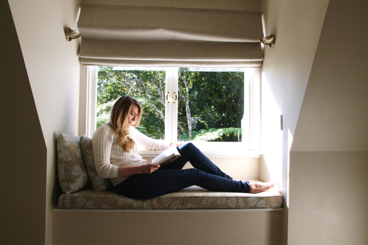 Reading nook at Spicers Clovelly Estate Sunshine Coast Blog