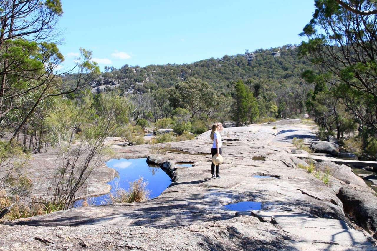 Girraween National Park Blue reflections off water Phoebe Lee Travel Blog