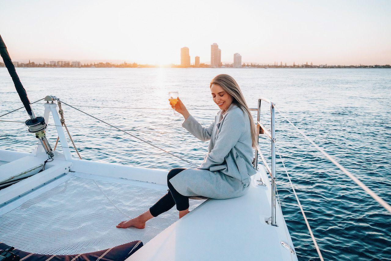 Sunset Sailing on the Gold Coast ©Little Grey Box