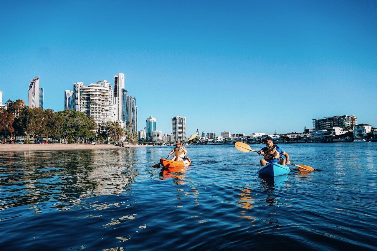 Kayaking on the Gold Coast ©Little Grey Box