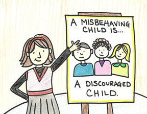 a misbehaving child is a discouraged child