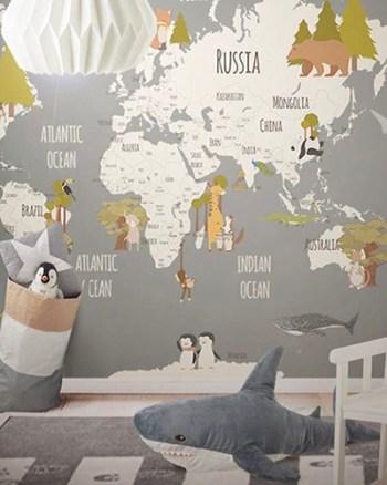 LH - Animals World Map III Room