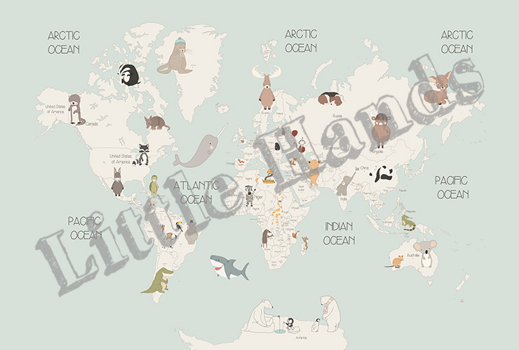 Animals world map iv little hands animals world map iv some wallpapers can be personalized by adding a name changing background colors adding or removing some items gumiabroncs Gallery