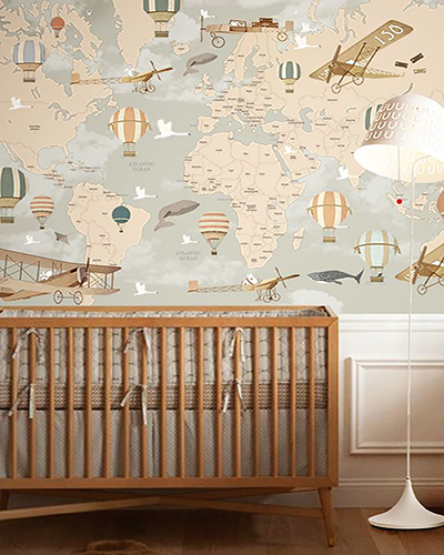 LH – Balloon Ride World Map Room