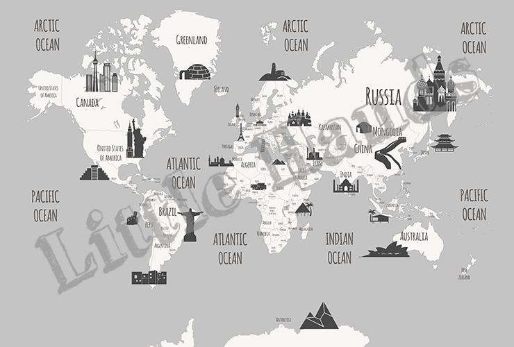 Landmarks world map little hands landmarks world map gumiabroncs Image collections