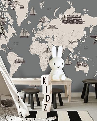 LH – Vintage World Map II Room