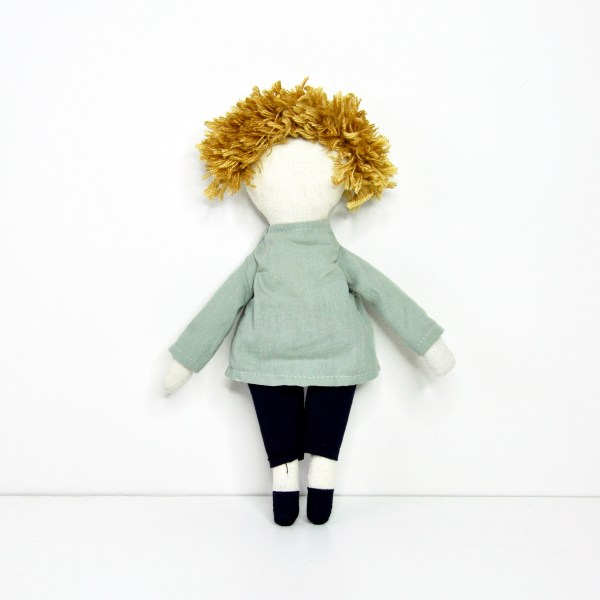 Worry doll - boy - back view