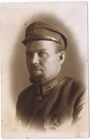 Фото красноармейца. Ленинград. 1930 год.