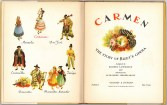 Фронтиспис и титульный лист детского издания оперы Кармен, 1938 г Нью-йорк.Гроссет & Данлэп (Гильдия Метрополитен-оперы)