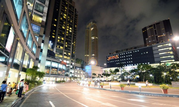 Makati city at night