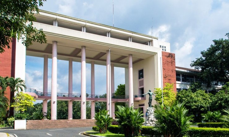 Quezon Hall and Oblation at UP Diliman Quezon City