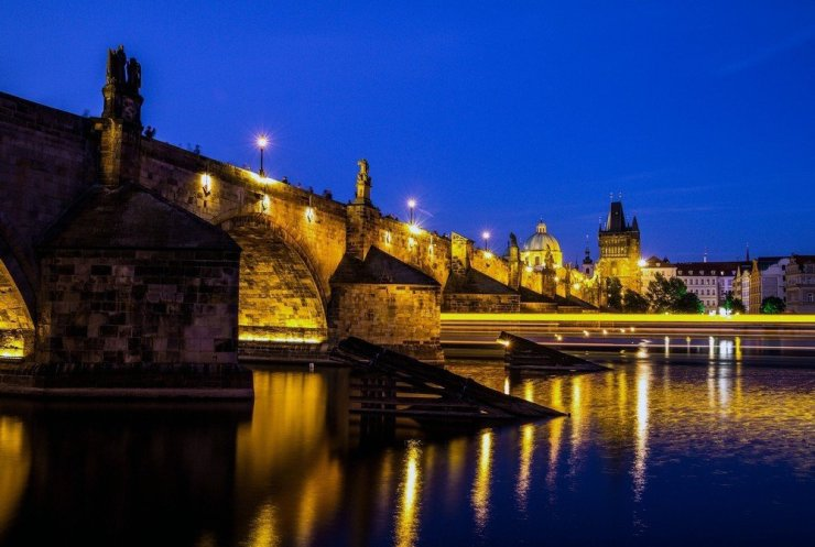 A perfect evening in Prague, Czech Republic.
