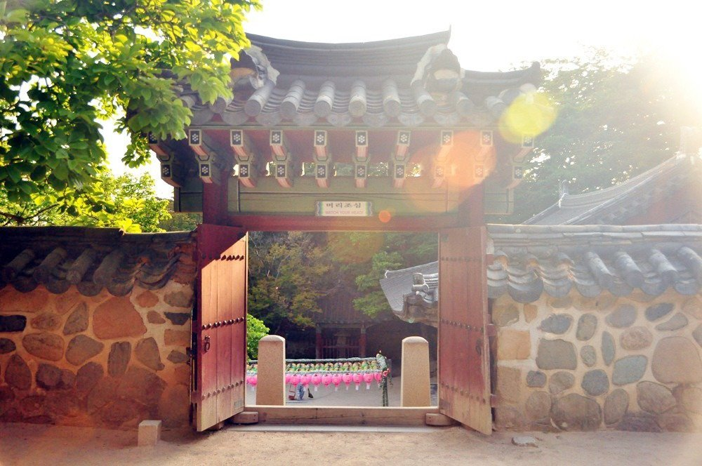 Visit the Bulguksa temple complex in Gyeongju, South Korea for a glimpse of Buddhist art and architecture.