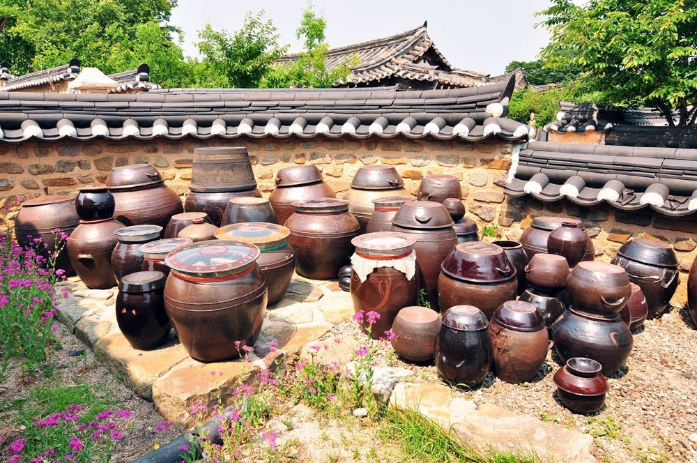 In Gyochon, Gyeongju's traditional hanok village, you can peek into open houses and courtyards for a glimpse of ancient Korean architecture.