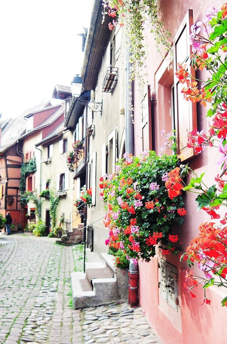 Of the many towns you can visit while driving in Alsace, Eguisheim is the prettiest of them all. With typical Alsatian half-timbered houses and a cobbled medieval center, stepping into Eguisheim is like stepping into your favorite fairytale. Click through for a complete road trip guide to Alsace.